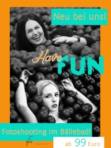 Werbeplakat für Bällebadshooting Website
